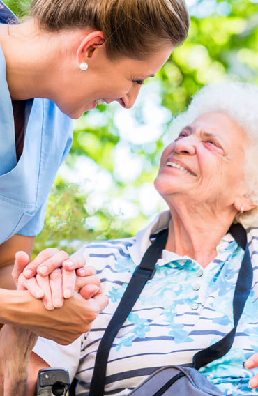 Helping old women