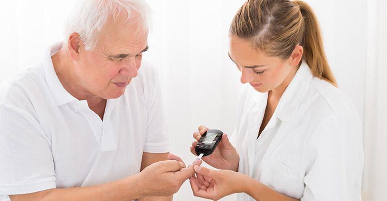 Checking patient sugar